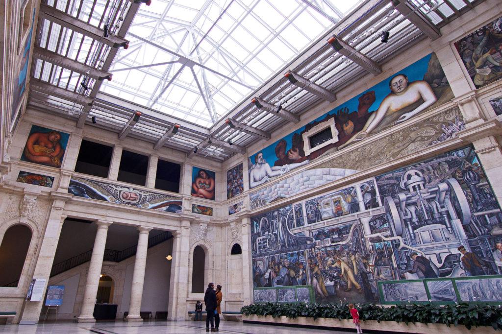 Rivera court renovation detroit institute of arts in for Diego rivera mural detroit institute of arts