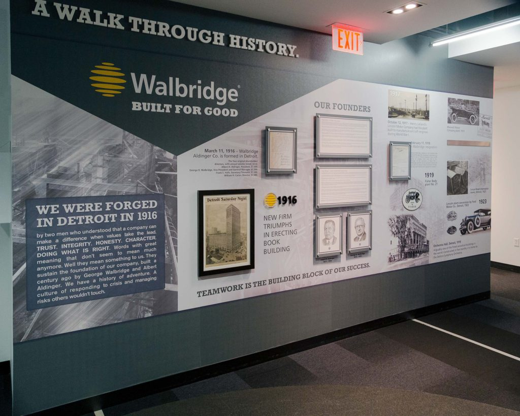 100 Years Of Stories Walbridge History Wall Installed