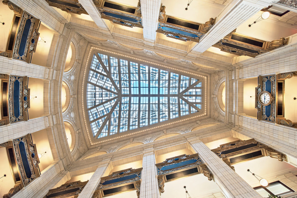 Inside the David Whitney Building after the renovations.