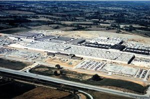 Toyota powertrain plant completed in Georgetown KY, 1987.