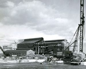 McLouth Steel plant additions completed, Detroit, 1937.