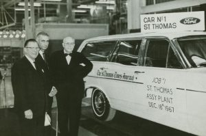 Ford Motor Company opens its newest vehicle assembly plant in St. Thomas, Ontario, Canada, 1967.