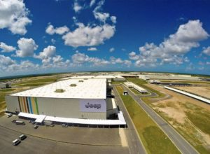 Automotive manufacturing complex for Fiat Chrysler Automobiles is completed, Goiana, Brazil, 2014.